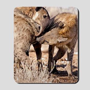 Spotted hyena greeting ritual Mousepad