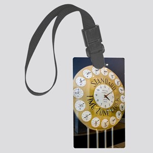 Standard time zone clock Large Luggage Tag