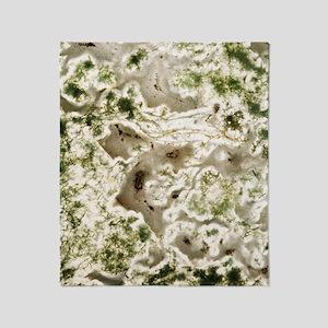 Moss agate Throw Blanket
