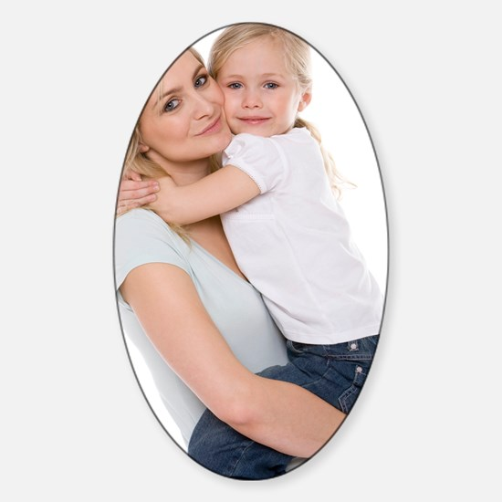 Mother and daughter Sticker (Oval)