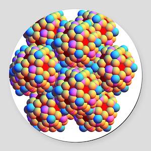 Spheres depicting the lotus effec Round Car Magnet