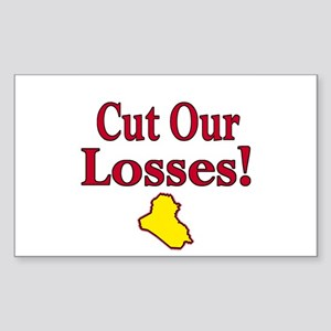 Cut Our Losses! Rectangle Sticker