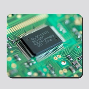 Microprocessor chip Mousepad