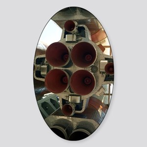 Soyuz Soviet rocket Sticker (Oval)