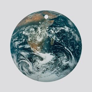 Whole Earth, showing Antartica, Afr Round Ornament