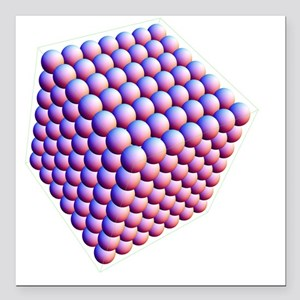 """Sphere packing, computer Square Car Magnet 3"""" x 3"""""""
