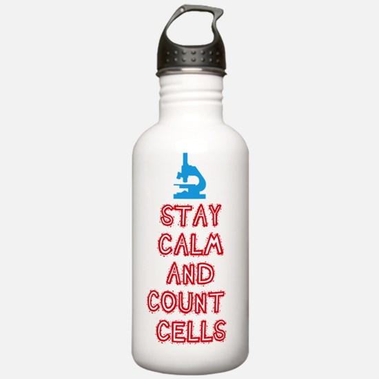 Stay Calm and Count Re Water Bottle