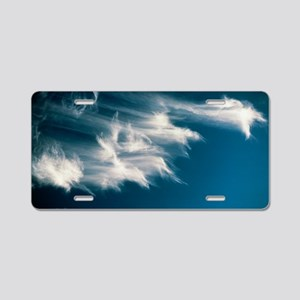 Wisps of cirrus cloud in th Aluminum License Plate