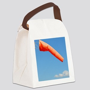 Windsock in an airfield Canvas Lunch Bag