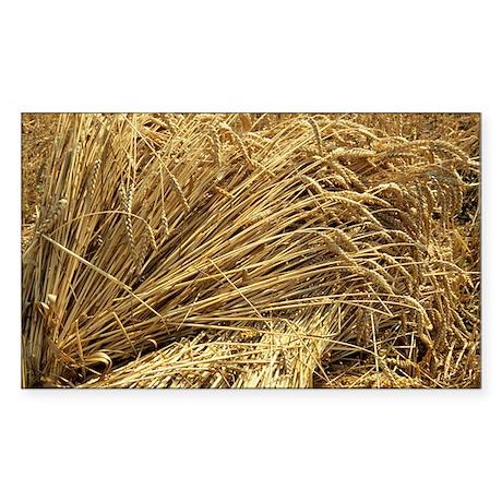 Wheat sheaves Sticker (Rectangle)