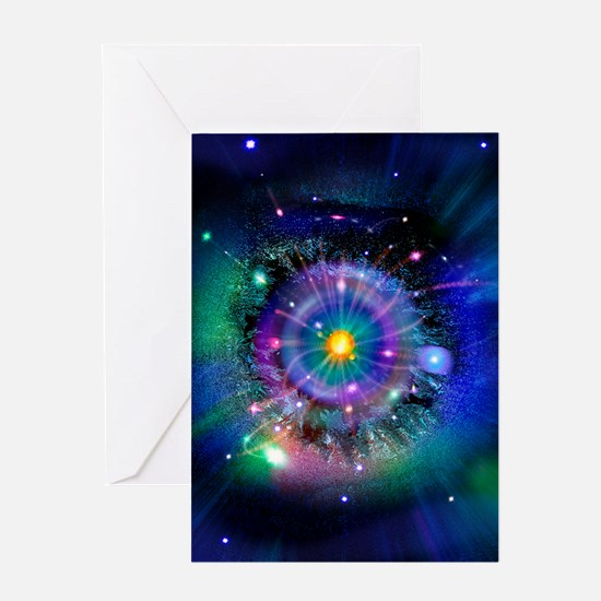 Space-time gateway Greeting Card