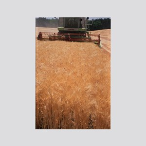 Wheat harvest Rectangle Magnet