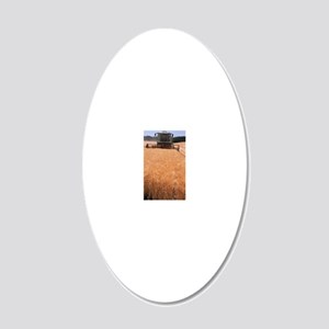 Wheat harvest 20x12 Oval Wall Decal