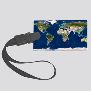 Whole Earth map Large Luggage Tag