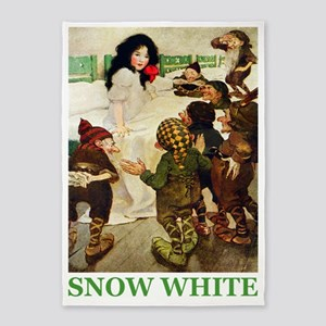 Snow White 2 GREEN 5'x7'Area Rug