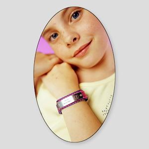 Medical identification tag Sticker (Oval)