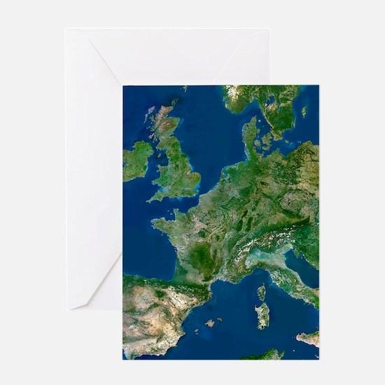Western Europe Greeting Card