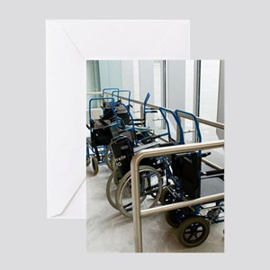 Wheelchairs at airport Greeting Card