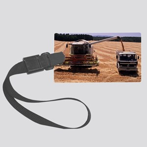 Wheat harvest Large Luggage Tag