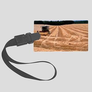 Wheat harvest Large Luggage Tag