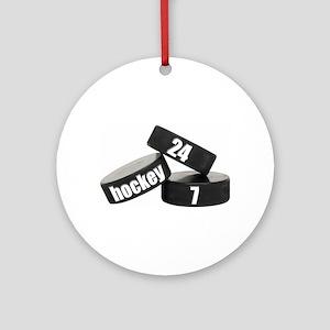 Hockey Nuts Ornament (Round)