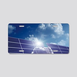 Solar panels in the sun Aluminum License Plate