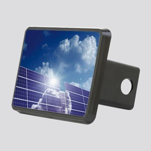 Solar panels in the sun Rectangular Hitch Cover