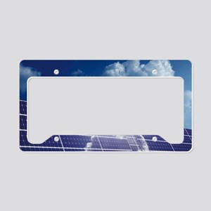 Solar panels in the sun License Plate Holder
