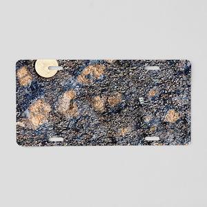 Wehrlite rock Aluminum License Plate