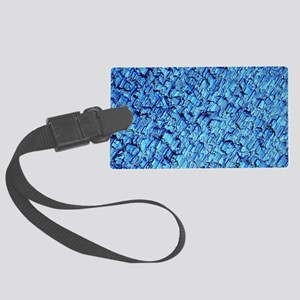 Solar cell, Micrograph Large Luggage Tag