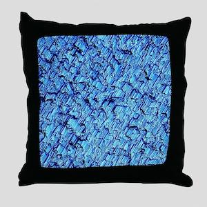 Solar cell, Micrograph Throw Pillow