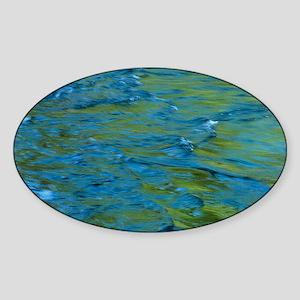 Water ripples Sticker (Oval)