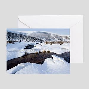 Snowy landscape, Scotland Greeting Card