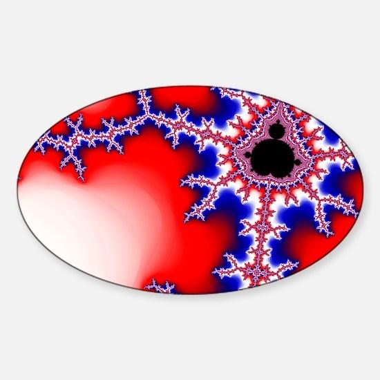 Mandelbrot fractal Sticker (Oval)