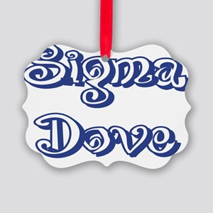 Curley Sigma Dove Picture Ornament