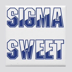 Sigma Sweet Two-tone Tile Coaster