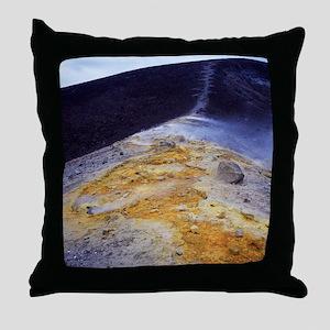 Volcanic sulphur deposits Throw Pillow