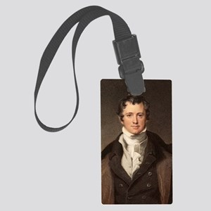 Sir Humphry Davy portrait chemis Large Luggage Tag