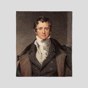 Sir Humphry Davy portrait chemis Throw Blanket