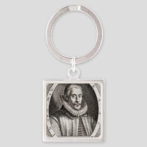 Sir Francis Walsingham, English st Square Keychain