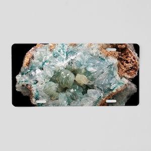 Smithsonite mineral sample Aluminum License Plate