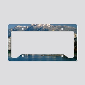 View of Vancouver, Canada License Plate Holder