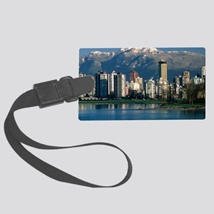 View of Vancouver, Canada Large Luggage Tag