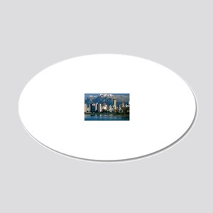 View of Vancouver, Canada 20x12 Oval Wall Decal