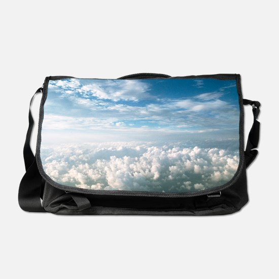 View of stratocumulus clouds over cu Messenger Bag