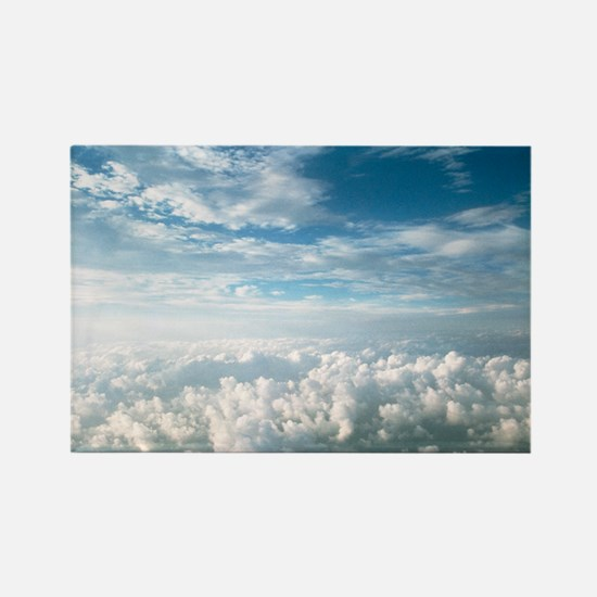 View of stratocumulus clouds over Rectangle Magnet