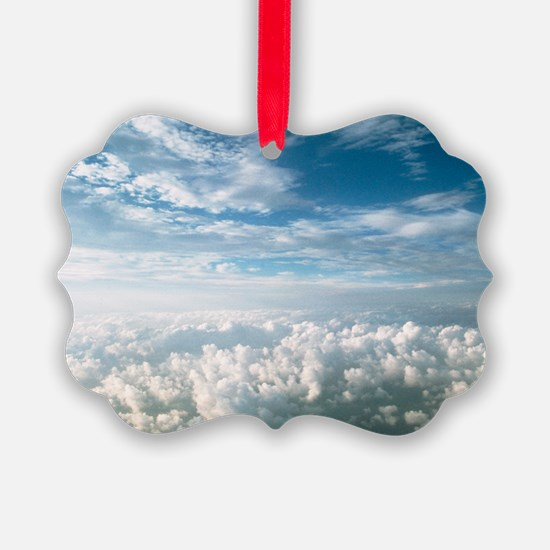 View of stratocumulus clouds over Ornament
