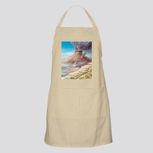 Volcano erupting, artwork Apron