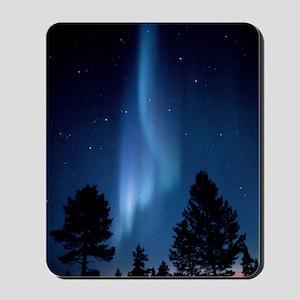 View of an aurora borealis display Mousepad
