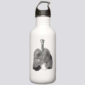 Lung anatomy, artwork Stainless Water Bottle 1.0L